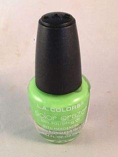 L.A. Colors Color Craze Nail Polish Mint With Hardeners     eBay