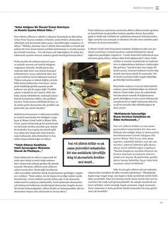 M Dekorasyon dergisi Temmuz 2017 sayısında Gönye Tasarım
