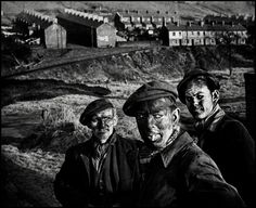 GREAT BRITAIN. Wales. 1950. A Welsh coalmining town. Three generations of miners.