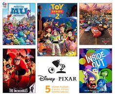 Pixar Jigsaw Puzzles 5 in 1 Multi Pack from Ceaco – All Weather Goods.com