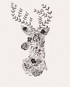 Free Flower Deer Printable & iPhone Wallpaper :: Garland of Grace