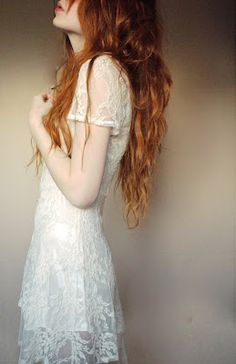 Lace white dress.