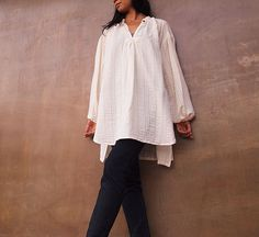 """the """"Big White Shirt"""" - I buy or make one every Spring"""