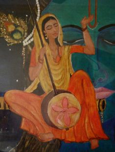 Painting of Meera Bai