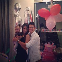 New Real Madrid Family!  James Rodriguez, his wife Daniela Ospina and their sweet daughter Salome Rodriguez :)  Welcome!
