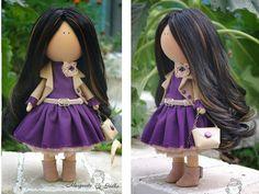 Suave muñeca color marrón lila hecha a mano por AnnKirillartPlace