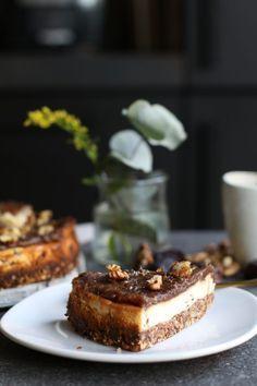 Dadel cheesecake - Beaufood - Date cheese cake, Gluten-free cakes, Gluten-free cheese cake, & Koffieboontje Utrecht, Beaufo - Healthy Cheesecake, Peanut Butter Cheesecake, Peanut Butter Cookie Recipe, Cheesecake Recipes, Cupcake Recipes, Dessert Recipes, Gourmet Recipes, Sweet Recipes, Baking Recipes