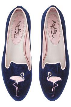 7e05801315a6 Mrs Alice for French Sole. Navy Ballet FlatsBallerina ...