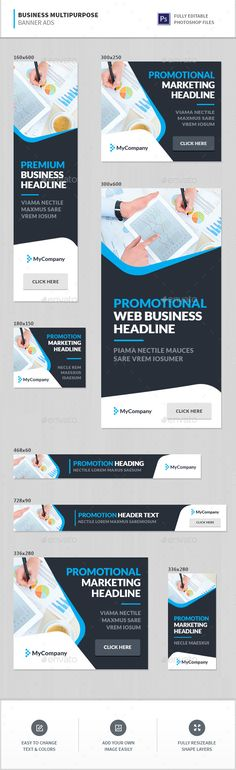 Business Multipurpose Banner Ads Template PSD. Download here: http://graphicriver.net/item/business-multipurpose-banner-ads/16300232?ref=ksioks
