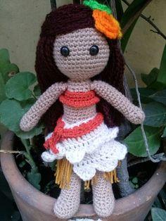 Moana amigurumi doll