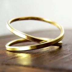 Yellow Gold Infinity Ring, 14K Yellow Gold, sizes 3 through 6, any size available, Sea Babe Jewelry