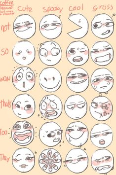 Art Sketches, Art Drawings, Funny Drawings, Drawing Face Expressions, Funny Facial Expressions, Blog Art, Drawing Reference Poses, Drawing Tips, Drawing Ideas