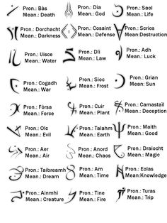 Tatts idea - glyphs I like the dream one