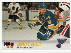 Brett Hull # 156 - 1992-93 NHL Pro Set Hockey Hockey Cards, Baseball Cards, Nhl, Blues, Mint, Sports, Hs Sports, Sport, Peppermint