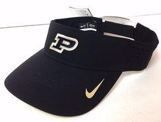 New$24 Nike®Dri-Fit PURDUE BOILERMAKERS SUN VISOR Boilers Golf Hat Dry Men/Women #Nike #PurdueBoilermakers