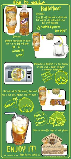How to make ButterBeer by on DeviantArt click now for more. How to make ButterBeer by on DeviantArt click now for more. How to make ButterBeer by on DeviantArt click now for more. How to make ButterBeer by on DeviantArt click now for more. Harry Potter Drinks, Harry Potter Food, Harry Potter Theme, Harry Potter Birthday, Healthy Smoothies For Kids, Fruit Smoothies, How To Make Butterbeer, Anniversaire Harry Potter, Gastronomia