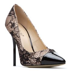 lace high heel pump shoes! <3