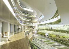 Stockholm is a leading city for green economic growth Green School Stockholm is a new type of school with a modern approach Designed by the Danish Architectural practice promotes air quality … - architecture Architecture Magazines, Green Architecture, Futuristic Architecture, School Architecture, Sustainable Architecture, Sustainable Design, Sustainable Living, Architecture Design, Biophilic Architecture