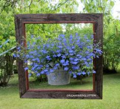 Reuse and repurpose outdated artwork or empty picture frames by making one of these unique and inventive projects.: Framed Hanging Planter