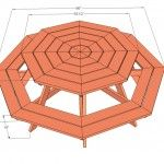 Plans for a round picnic table