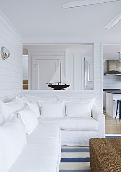 White sectional.