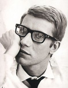 the french epitome of stylish nerd Yves St. Laurent circa 1960/70
