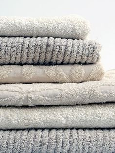 Japanese towels. Or any nice towels will do.