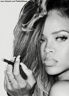 Rhianna  another good role model...  NOT... She lets men beat her face in and then takes them back....idiot