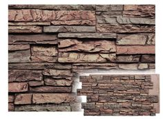 Faux panels that replicate the look of real stacked stone with quiet earth tones to make any home feel grounded and inviting.