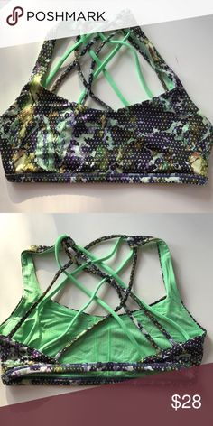 🆕 Lululemon Free to be Zen Bra In excellent used condition.  Love this print! Just like other styles of lulu bras better. Does not include pads. lululemon athletica Intimates & Sleepwear Bras