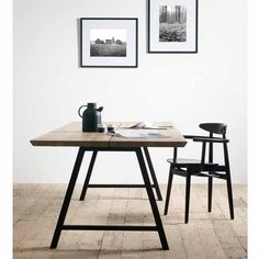 Vincent Sheppard Albert A-Frame -ruokapöytä Simple Furniture, Furniture Making, Table And Chairs, Dining Chairs, Slots Decoration, Solid Oak Dining Table, Dining Room Inspiration, Home Living, Home Decor Wall Art