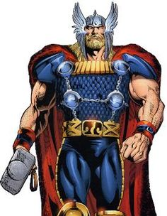 Thor is the God of Thunder and the son of Odin, in Norse mythology and has become an inspiration for a fictional character in Marvel Comics.  (2011 avengerswallpaper.net)