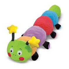 Melissa Doug Plush Giant Caterpillar Stuffed Animal ❤ liked on Polyvore featuring animals