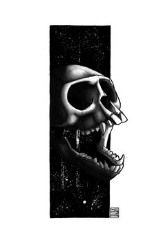 "Limited edition (10) token of Skeenee´s ""Monkey Skull"" available on  www.makersplace.com. #cryptoArt #skeenee #cryptoartist #skull #skullart Sumi Ink, Anatomy Drawing, Ink Painting, Skull Art, Blockchain, Monkey, Digital Art, My Arts"