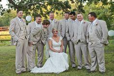Wedding photos bride with groomsmen   MAKK Photography, shabby chic wedding, diy wedding
