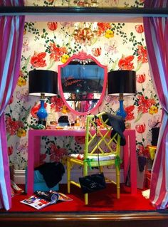 Eddie Ross window display.cant wait to be able to do  shop displays for BANGcosmetics!