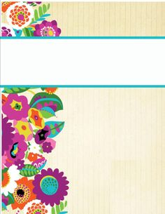 Binder Covers44 Cute Covers Cover Templates Printable School