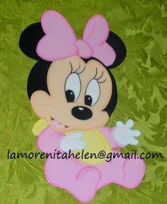 #silueta decorativa,#minie mouse bebe.