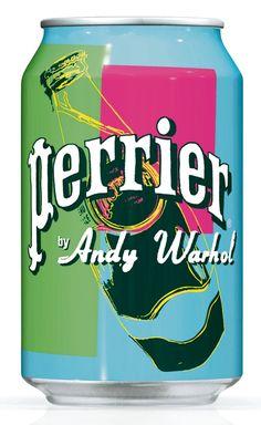 PERRIER fête ses 150 ans! Woo Hoo Andy Warhol Perrier #packaging PD
