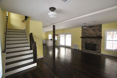 #Farmhouse 20 Interior: Living Room & Stairs; Sullivan County Real Estate -- Catskill Farms Journal: Farm 20 - SOLD