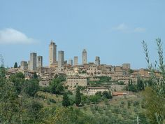 San Gimignano - Nicknamed the medieval Manhattan, San Gimignano is a village in Tuscany famous for its 14 stone towers. At the height of San Gimignano's wealth and power, more than 70 towers were built to defend the town against enemy attacks. After the plague devastated the city in 1348, San Gimignano's power faded, which kept enemies away and preserved many of the city's medieval towers.