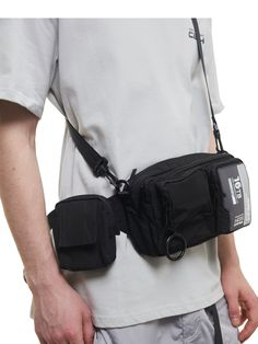 """""""FM-2030"""" Rubber SD Card Utility Waist Bag - C2H4® Crossbody Bags For Travel, Travel Bags, Modern Backpack, Waist Pack, Sport Fashion, Sd Card, Fashion Accessories, Pouch"""