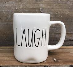 """New Rae Dunn by Magenta """"LAUGH"""" Mug"""