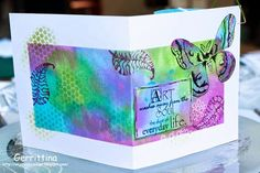 Op mijn hobbyzolder: Art-card 2 Using Designs by Ryn: Selini and Three Leaves Set (stamps)