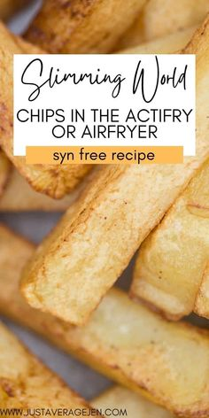 Cooking Chips, Slimming World Tips, Syn Free Food, Best Chips, Actifry, Potato Dishes, Food Diary, Vegan Dishes, Balanced Diet