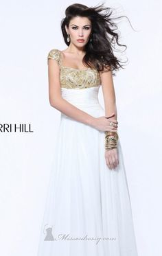 Embellished Long Dress by Sherri Hill