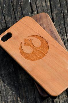 Star Wars - Rebel Alliance Wooden iPhone 5 5s iPhone 6 case walnut bamaboo wood iphone case