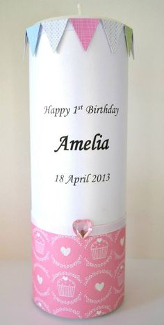 Flickering Moments Candle & Gift Designs presents its collection of hand designed and decorated personalised candles & gifts. Our stunning candles are designed for all occasions. We source a variety of embellishments, Buy Candles Online, Baptism Candle, Personalized Candles, Happy 1st Birthdays, Hand Designs, Birthday Candles, Embellishments, Great Gifts, Presents