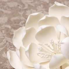 Gumpaste Queen of the Night Dahlia Sugarflowers are perfect cake decorating fondant wedding cakes & cupcakes.   CaljavaOnline.com