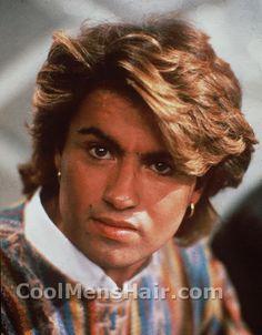 80S Hairstyles | George Michael Hair Styles | Cool Mens Hair